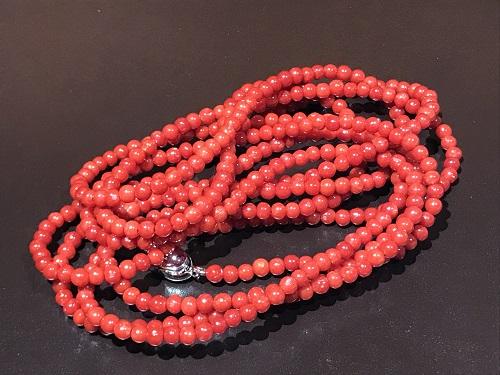 骨董 珊瑚 サンゴ さんご ネックレス 血赤 アクセサリー