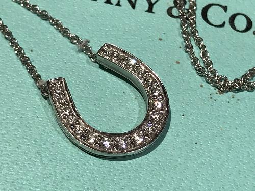 ティファニー(Tiffany)ホースシューネックレス ダイヤモンド ジュエリー