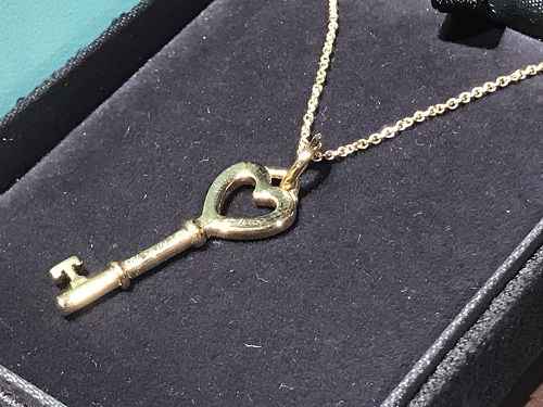 ティファニー(Tiffany) ハートキー ネックレス 750 ジュエリー K18