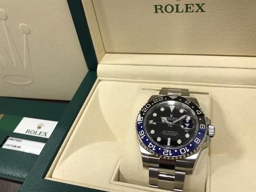 ロレックス(ROLEX) GMTマスターⅡ 116710BLNR 青×黒 ランダム 大宮 買取