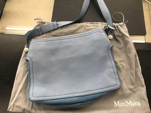 マックスマーラ(MAX MARA)ショルダーバッグ買取 カーフ 水色 ブランド買取 MARUKA心斎橋店