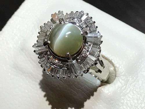 クリソベリルキャツアイ 指輪 リング ダイヤモンド(DIAMOND) プラチナ キャッツ