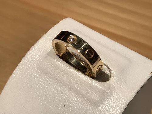 カルティエ(CARTIER)ラブリング 1PD ワンポイントダイヤ 指輪 ジュエリー