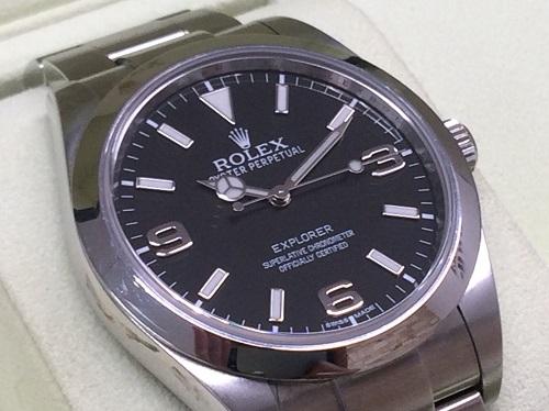 ロレックス(ROLEX) エクスプローラーⅠ 214270 ランダム 旧型 保証書有 神戸三宮 買取