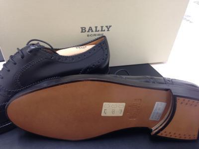 BALLY バリー レースアップシューズ 黒 レザー 未使用 美品