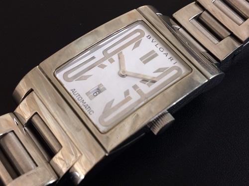 ブルガリ(BVLGARI)買取 レッタンゴロ買取 ステンレス 白文字盤 腕時計買取 クォーツ式 MARUKA 京都北山店 腕時計売るならマルカ!