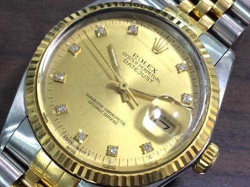 ロレックス(ROLEX)買取 デイトジャスト買取 16013G ダイヤ ジュビリーブレス ギャランティ付 MARUKA 京都北山店 時計を売るなら!