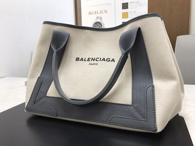 BALENCIAGA バレンシアガ ネイビーカバス キャンバス 美品 高価買取 宅配買取