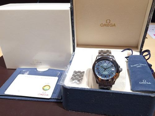 オメガ(OMEGA)買取 シーマスター ジャックマイヨール ステンレス 付属品完備 MARUKA 京都北山店 機械式時計の売却