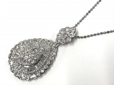 ノンブランドジュエリープラチナPT900ダイヤモンドネックレス買取 渋谷