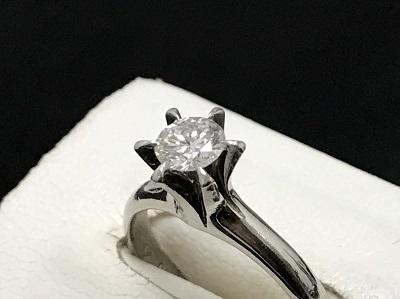 ダイヤモンド 0.41ct リング Pt900 プラチナ 立爪ダイヤモンド 宝石 高価買取 七条店