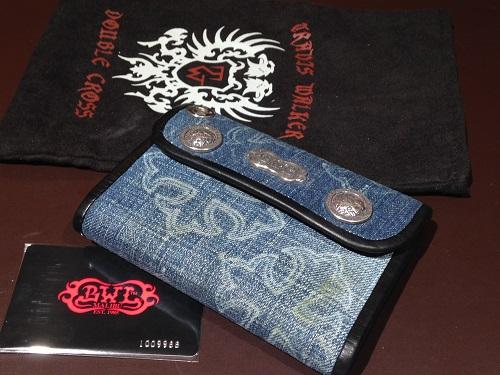 BWL Bill Wall Leather ビルウォールレザー 二つ折り 財布 デニム  W-C100