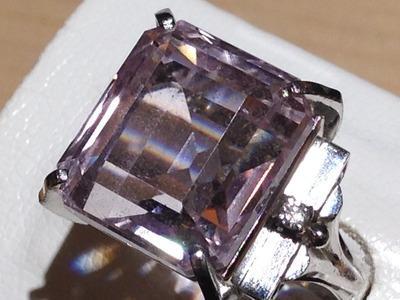 モルガナイト 17.9ct ダイヤモンド プラチナ リング
