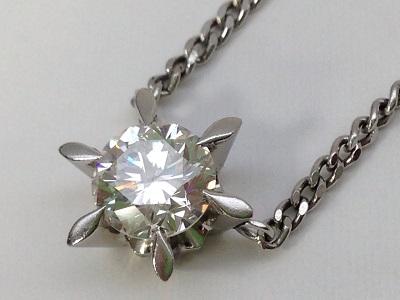 ダイヤモンド ラウンドブリリアントカット ペンダント 0.54ct プラチナ ダイヤモンド買取 神戸 三宮 元町