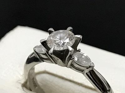 ダイヤモンド 0.43ct リング Pt900 プラチナ 立爪ダイヤモンド 宝石 高価買取 七条店