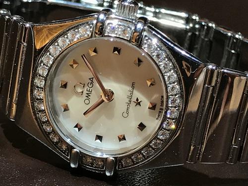 オメガ(OMEGA) コンステレーション レディース 腕時計 ダイヤベゼル ブランド ウォッチ