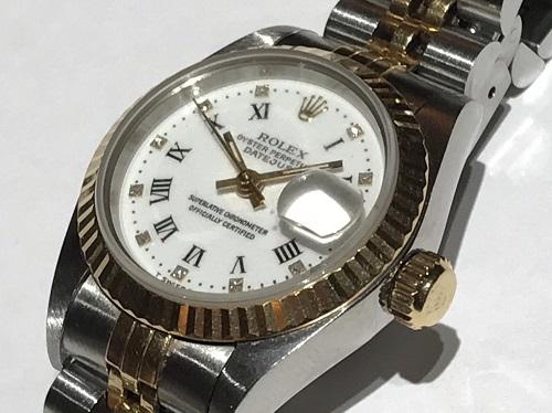 ロレックス(ROLEX) 69173G デイトジャスト ホワイトローマ ステンレス イエローゴールド 時計