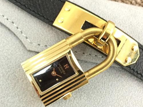 エルメス買取  ケリーウォッチ買取 GP×レザー 腕時計買取 ブラック MARUKA 京都北山店 時計を売るならマルカ