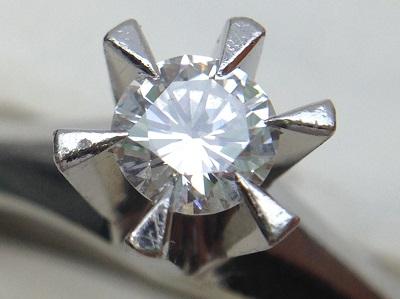 ダイヤモンドリング 0.37ct 立爪 PT900 ダイヤモンド買取 神戸 三宮 元町