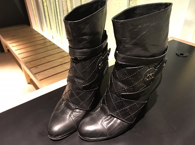 CHANEL(シャネル)ブーツ レザーマトラッセ ショート  買取 マルカ 渋谷