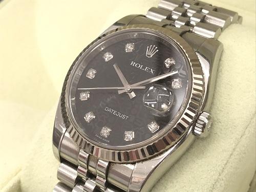 ロレックス(ROLEX) メンズデイトジャスト 116234G 黒ホリコンピューター 時計買取 京都大宮店