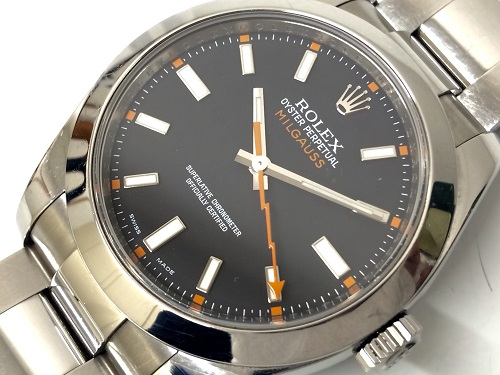 ROLEX(ロレックス)ミルガウス 116400 黒文字盤 時計 高価 買取 渋谷