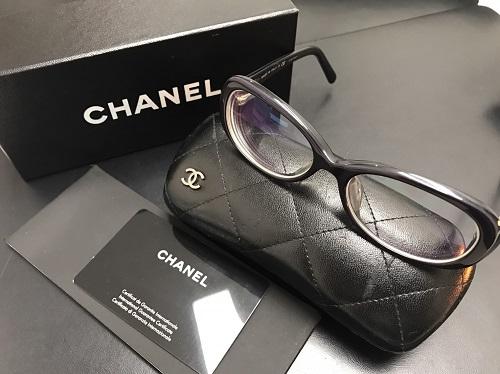 シャネル(CHANEL) 眼鏡 度入り 黒縁 ブランド小物 京都大宮店