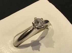 ダイヤモンドリング Pt900 0.3ct 宝石 シュエリー買取