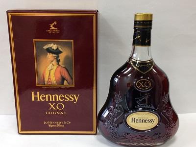 ヘネシー XO (Hennessy X.O) 700ml 金キャップ クリアボトル 箱付 お酒買取 神戸 三宮 元町