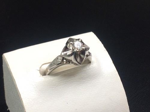 ダイヤモンドリング Pt900 0.28ct 6.4g 宝石 出張買取