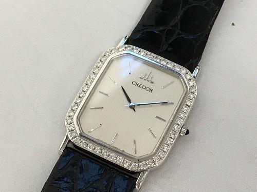クレドール(CREDOR) プレステージ 2F70-5060 ダイヤベゼル 750WG×革 大宮 買取