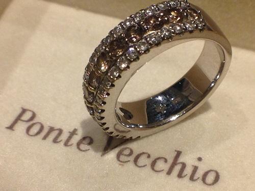 Ponte Vecchio ポンテヴェッキオ ダイヤモンドリング 0.79ct 0.45ct ブランドジュエリー 高価買取 福岡 天神 博多