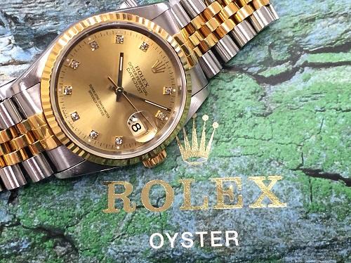 ロレックス(ROLEX) デイトジャスト 16233G コンビ メンズモデル 京都大宮店