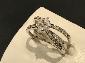 ダイヤモンドリング 750 K18 福岡 ジュエリー買取 金買取 ダイヤモンド買取 天神 質屋 大名 博多