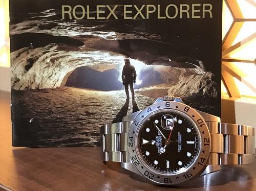 ロレックス ROLEX エクスプローラーⅡ 16570 V番 黒文字盤 買取 渋谷