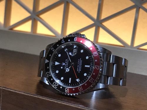 ロレックス(ROLEX)GMTマスターⅡ Ref.16710  赤黒ベゼル  P番