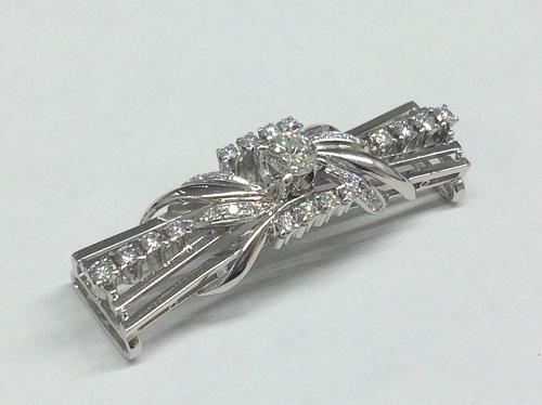 帯留め Pt900 0.52ct 12.2g ダイヤモンド 宝石 神戸三宮 買取