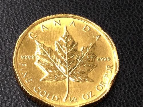カナダ金貨 メープルリーフ  コイン 1オンス 地金 純金 貴金属 高騰中 京都大宮店