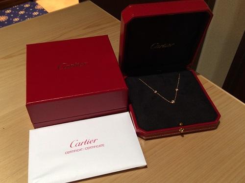 カルティエ Cartier ディアマンレジェ ネックレス 1PD 2Pピンクサファイヤ 750PG 買取 渋谷