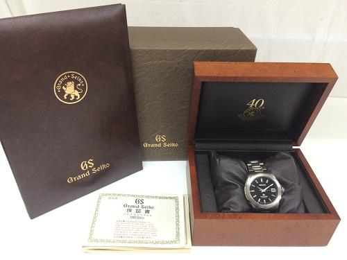 グランドセイコー買取 メンズ腕時計買取 ステンレス 黒文字盤 9S55 付属品完備 MARUKA 京都北山店 時計売るにはマルカで!