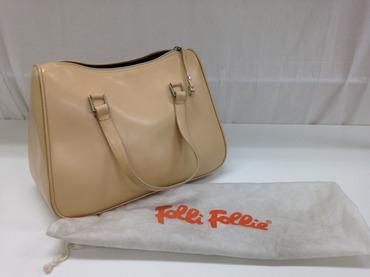 Folli Follie フォリフォリ ハンドバッグ カーフ 白 高価買取
