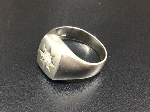 プラチナ 印台 リング Pt900 ダイヤモンド 0.2ct 宝石 貴金属 15.2グラム アクセサリー MARUKA 京都北山店 貴金属を売るなら