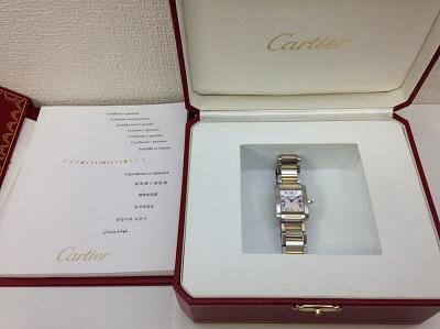 カルティエ(Cartier) タンクフランセーズSM ピンクシェル文字盤 W5127Q4 SS×PG カルティエ買取 神戸 三宮 元町