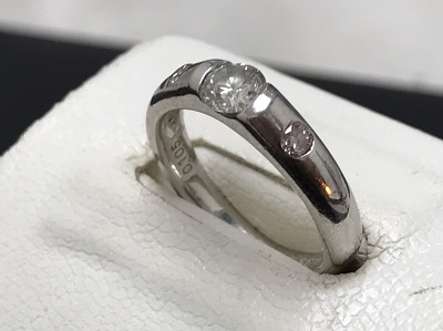 ダイヤモンド 0.359ct リング Pt900 プラチナ 宝石 高価買取 七条店