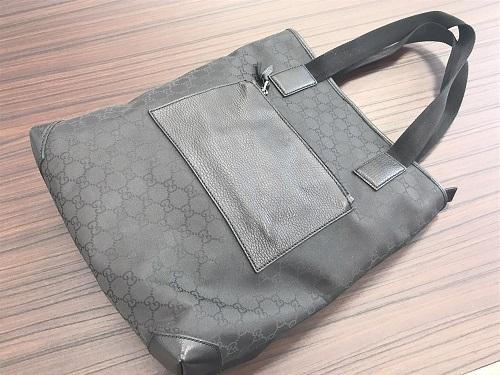 グッチ(GUCCI) ハンドバッグ GGキャンバス ブラック アウトレット ブランド買取 京都大宮店