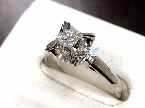 ダイヤモンドリング 0.17ct Pt900 プラチナ 宝石買取 京都大宮店