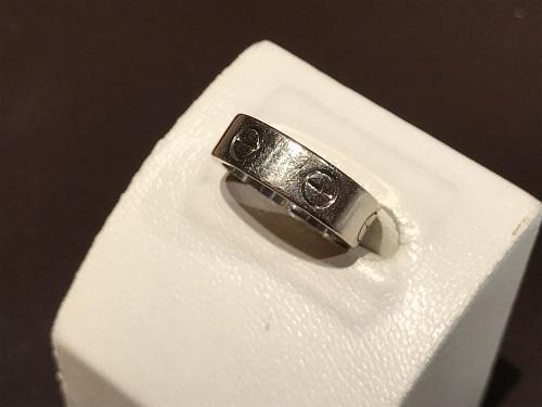 カルティエ(CARTIER) ラブリング ジュエリー 指輪 リング ブランド ホワイトゴールド