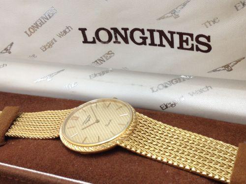 ロンジン(LONGINES) メンズウォッチ 750 高価買取 ブレス一体型 京都 七条