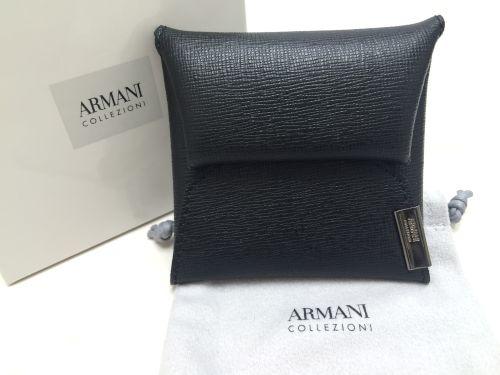 アルマーニ(ARMANI) コインケース レザー ブラック マルカ 四条店 高価買取り