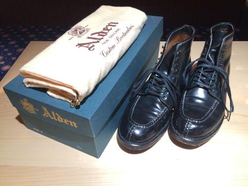 オールデン(Alden)ブーツ レザー ブラック メンズ マルカ 四条店 高価買取り